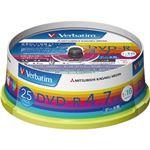 (まとめ)バーベイタム データ用DVD-R4.7GB 1-16倍速 ホワイトワイドプリンタブル スピンドルケース DHR47JP25V1 1パック(25枚)【×5セット】