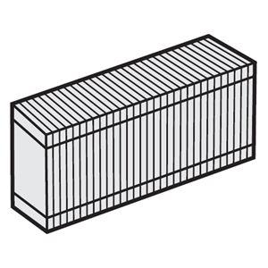 (まとめ)パナソニック加湿セラミックファンヒーター専用 交換用加湿フィルター FEF1950042 1個【×5セット】 - 拡大画像