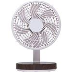 (まとめ)コイズミ 卓上扇風機 木目KLF-1395/MR 1台【×5セット】