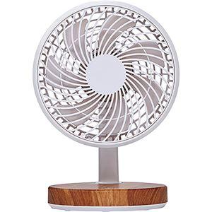 (まとめ)コイズミ 卓上扇風機 木目KLF-1395/MY 1台【×5セット】 - 拡大画像