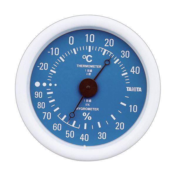 (まとめ)タニタ アナログ温湿度計 ブルーTT-515-BL 1個【×5セット】