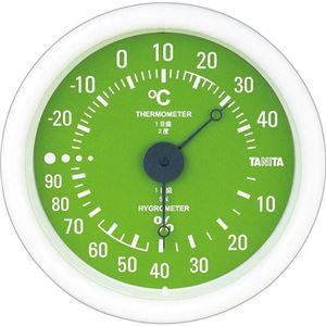(まとめ)タニタ アナログ温湿度計 グリーンTT-515-GR 1個【×5セット】 - 拡大画像
