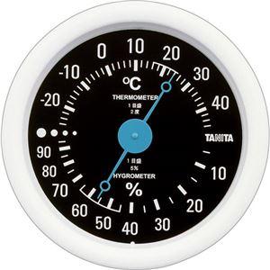 (まとめ)タニタ アナログ温湿度計 ブラックTT-515-BK 1個【×5セット】 - 拡大画像