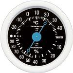 (まとめ)タニタ アナログ温湿度計 ブラックTT-515-BK 1個【×5セット】