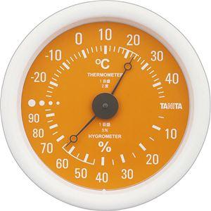 (まとめ)タニタ アナログ温湿度計 オレンジTT-515-OR 1個【×5セット】 - 拡大画像