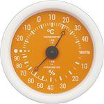 (まとめ)タニタ アナログ温湿度計 オレンジTT-515-OR 1個【×5セット】