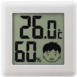 (まとめ)ドリテック デジタル温湿度計 ピッコラホワイト O-282WT 1個【×5セット】