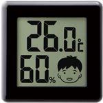 (まとめ)ドリテック デジタル温湿度計 ピッコラ ブラック O-282BK 1個【×5セット】