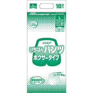 (まとめ)カミ商事 エルモア いちばん パンツボクサータイプ L 1パック(18枚)【×5セット】 - 拡大画像