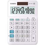 (まとめ)カシオ W税率電卓 10桁ミニジャストタイプ ホワイト MW-100TC-WE-N 1台【×5セット】