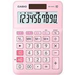 (まとめ)カシオ W税率電卓 10桁ミニジャストタイプ ピンク MW-100TC-PK-N 1台【×5セット】