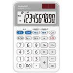 (まとめ)シャープ 電卓 軽減税率対応モデル10桁 ミニナイスサイズ EL-MA71-X 1台【×5セット】