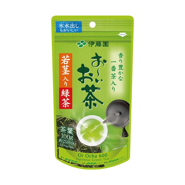 (まとめ)伊藤園 おーいお茶 若茎入り緑茶100g 1袋【×10セット】