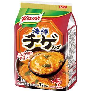 (まとめ)味の素 クノール 海鮮チゲスープ9.4g 1袋(4食)【×10セット】 - 拡大画像