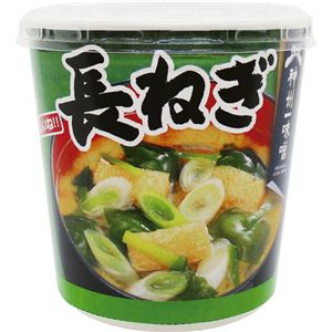 (まとめ)神州一味噌 おいしいね!!長ねぎカップ 21.9g 1ケース(6食)【×10セット】 - 拡大画像