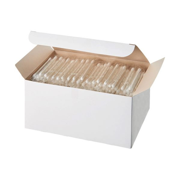 (まとめ)サンリツ 紙軸綿棒 個包装バラ 1パック(400本)【×10セット】
