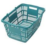 (まとめ)スーパーメイト ショッピングバスケット33L ブルーグリーン CB-33EBG 1個【×10セット】
