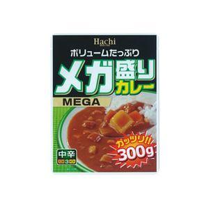 (まとめ)ハチ食品 メガ盛りカレー 中辛 300g 1食【×30セット】 - 拡大画像