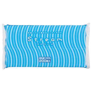 (まとめ)太洋紙業 水洗トイレに流せるペーパータオル ストリーム 200枚 1パック【×30セット】 - 拡大画像