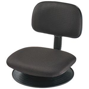 ナカバヤシ 座椅子 ブラック RZF-103BK 1脚 - 拡大画像