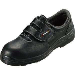 タルテックス セーフティシューズ(ウレタン短靴マジック) AZ59802 ブラック 25.5cm AZ-59802-710-25.5 1足 - 拡大画像