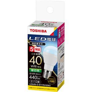 (まとめ)東芝ライテック LED電球 ミニクリプトン形 E17口金 3.8W 昼白色 LDA4N-G-E17/S/40W/2 1個 【×3セット】 - 拡大画像
