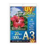 (まとめ)アスカ ラミネーター専用フィルム UVカット A3 100μ F4002 1パック(20枚) 【×3セット】