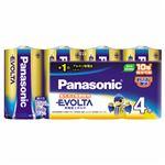 (まとめ)パナソニック アルカリ乾電池 エボルタ単1形 LR20EJ/4SW 1パック(4本) 【×3セット】