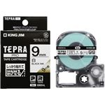 (まとめ)キングジム テプラ PRO テープカートリッジ しっかり貼れてはがせるラベル 9mm 白/黒文字 SS9KEW-AL 1個 【×3セット】