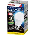 (まとめ)東芝ライテック LED電球 一般電球形 E26口金 4.4W 昼白色 LDA4N-G/40W/2 1個 【×5セット】