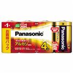 (まとめ)パナソニック アルカリ乾電池 単1形 LR20XJ/4SW 1パック(4本) 【×5セット】