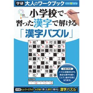 (まとめ)学研ステイフル 大人のワークブック 漢字パズル 1冊 【×5セット】 - 拡大画像