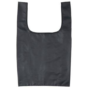 (まとめ)ジーナス ECO コンパクトマイバッグ M ブラック 1枚 【×10セット】 - 拡大画像