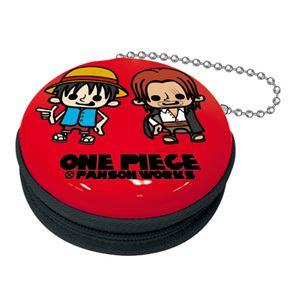 【ワンピース×パンソンワークス】ジッパー缶 vol.2(ルフィ・シャンクス レッド) - 拡大画像