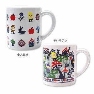 Disney Snow White and Seven Dwarfs Designed by Kinpro マグカップ(小人 総柄) - 拡大画像