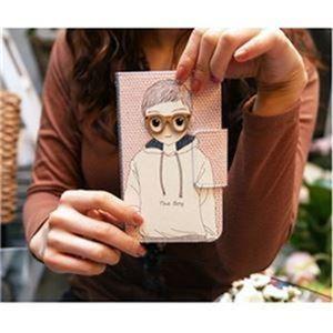 MrH(ミスターエイチ)スマホウォレットケース/ボーイ&ガール(ボーイ)By iPhone11ProMax - 拡大画像