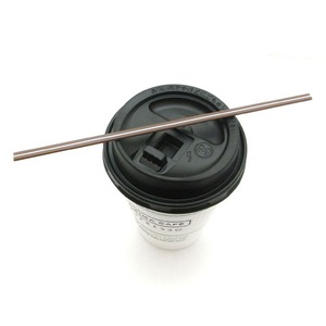 ホットコーヒー用マドラーストロー/18cmチョコカラー 1000本入り - 拡大画像