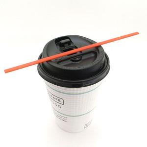 ホットコーヒー用マドラーストロー/15cmレッドカラー 1000本入り - 拡大画像