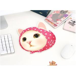 JETOY(ジェトイ) 顔型マウスパッド/ピンクずきん - 拡大画像