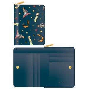 7321Design(7321デザイン) 可愛いギフトボックスに入った小銭入れ付ミニ財布/星の王子様/マント(ネイビー) - 拡大画像