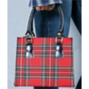 人気デザイン♪2Wayチェックのシンプルミニハンドバッグ/ネイビータータン