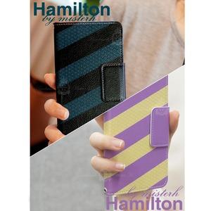 MrH(ミスターエイチ)スマホウォレットケース/ハミルトン(ブラック) iphoneX/XS