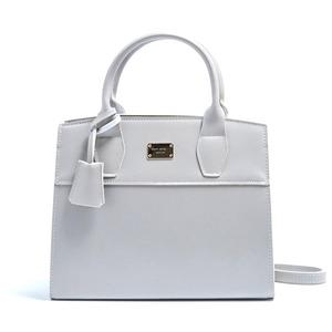 2Wayキレイ色の上品なミニハンドバッグ/グレイ - 拡大画像