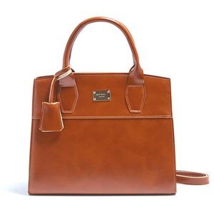 2Wayキレイ色の上品なミニハンドバッグ/キャメル