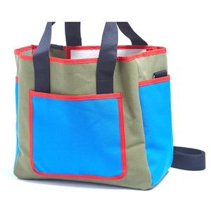 アウトドアにも旅行にもエコバッグとしても使えるハンドバッグ/カーキ - 拡大画像