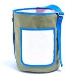 アウトドアにも旅行にもエコバッグとしても使える筒形バッグ/カーキ