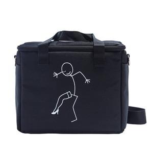 アウトドアにもエコバッグとしても使えるハンドバッグS/ヒールブラック - 拡大画像