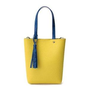 カラフル5色♪柔らか素材のツートン2Wayハンドバッグ