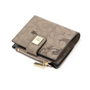 PRIMA CLASSE(プリマクラッセ) P-7503-1 たっぷり収納コンパクトミニ財布 (グレイ) - 拡大画像