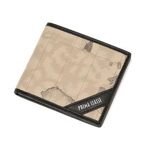 PRIMA CLASSE(プリマクラッセ) P-3004-1 ユニセックス二つ折り財布 (ブラック)